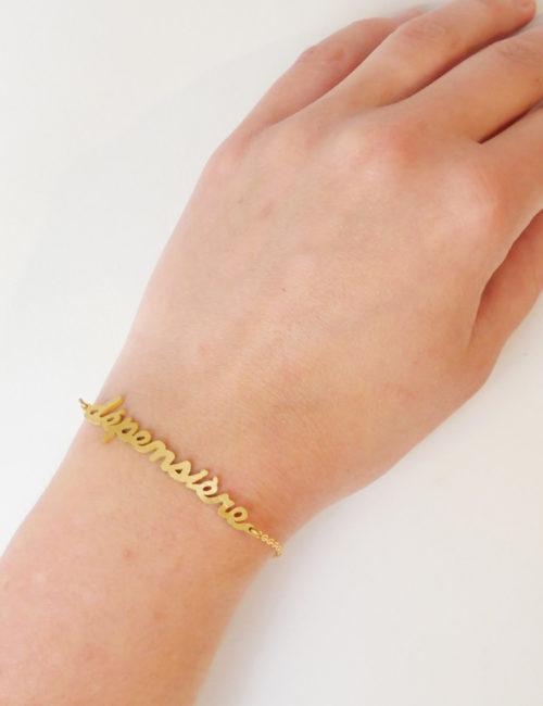 bracelet phrase porté