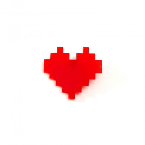 pin's coeur pixel rouge